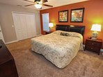 1st Upstairs King Master Bedroom w/En-Suite Bath & Flat Screen TV - View #2