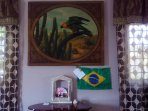 Brazil's flag: Present I received from my Brazilians guests Audrey and Leo :-)