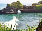 Tanah Lot Temple. 45 mins drive car from the villa. Tours/excursions with our driver (surcharge).