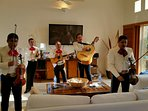 Mariachi band can be hired to play right in the Villa for your entertainment.