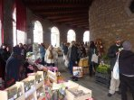 Ambert :Thursdays market at the medieval market hall.