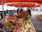 Ambert;  Market wonderful local fruit and veg ,cheese and wine.