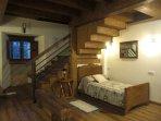 Original zona dormitorio en el loft