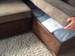 Under storage bedding for sofa bed