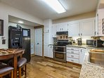 Double ovens, very fully equipped kitchen, many staples and specialty cookware & drinkware