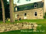 Boutique Highland Cottage set within 2 private acres of The Ballindalloch Estate, Speyside.