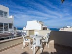Beautiful 40 square foot terrace with a seaview
