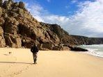 Porthcorno Beach