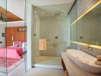 The Iman Villa - Guest bedroom and ensuite bathroom