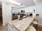 Updated kitchen with new granite counter tops and stainless stee