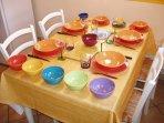 La vaisselle colorée du Gite en Alsace