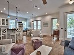 It's an open concept space, so there's plenty of room for the whole family to enjoy themselves.