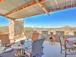 Look forward to spending hours on the private patio overlooking the desert.