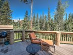 Grill outside or relax on patio seating and enjoy treetop views of Summit County.