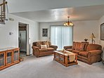 The cozy living room will quickly become your favorite place to gather with your companions.