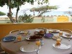 Breakfast overlooking the Caribbean anyone?