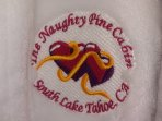 Monogrammed Robes can be Purchased for Honeymooners as a Keepsake.