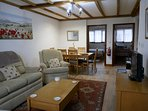 A typical living area in one of our two bedroom cottages