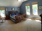 2nd floor master bedroom (w/ window air conditioner)