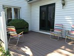 deck off of dining area w/ gas grill and new deck