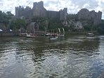 Pembroke castle - birthplace of Henry Tudor with circular walks and cafes within 5 minutes stroll