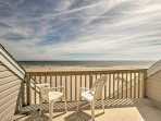Enjoy unobstructed views of the ocean from the master bedrooms private balcony.