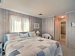 The master bedroom is complete with a king-sized bed, its own master bathroom and a private balcony overlooking the...