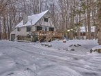 Run away to Pocono Lake and stay this 3-bedroom, 1-bathroom vacation rental cottage.