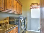 In-unit laundry machines are a welcome sight.