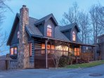 Log cabin with over 3,100 sqft