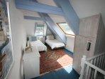 Second floor loft bedroom