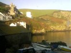 View of Doc Martin's surgery taken from kitchen