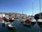Mevagissey Harbour 250 yards away