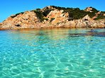 Crystal clear waters in Costa Smeralda