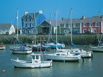 Aberaeron - nearby quaint welsh fishing village