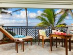 Panoramic Ocean View Lanai with dining for 4 and lounge!