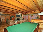Comfortable Seating and Main Floor Pool Table for Great Familiy Fun!