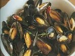 Mussels in buttery garlic and wine Warning -highly addictive