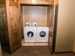 Washer and dryer along with soaps are provided.
