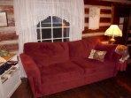 Sofa in Living Room/Bedroom Combination.