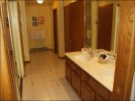 Large Master bathroom accessed from Master Bedroom and Living Area.