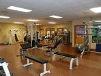 Work up a sweat in the community fitness center!