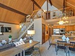 The cabin boasts 1,400 square feet of well-appointed living space.
