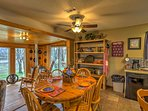 Gather around the living room table for family games and home cooked meals.