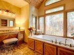 The en suite master bathroom is truly a luxury!