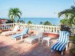 Ocean view pool terrace