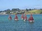 Sailing on estuary