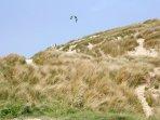 Perranporth sand dunes