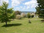 Memorial gardens adjacent to the property