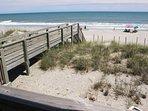 Walkway leading to the beach/ocean